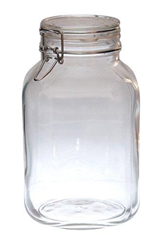 Bormioli Fido # 203444# tarros de Cristal con Cierre de Clip, Original, 3L
