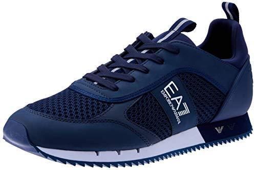 EMPORIO ARMANI EA7 Black&White Laces U Zapatillas Moda Hombres Azul - 42...
