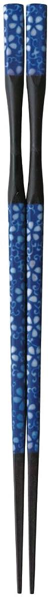 雑品体細胞ビリーヤギ杵型多久島箸 藍花唐草 22.5cm 【食洗機?乾燥機?電子レンジOK】 ZA-412827