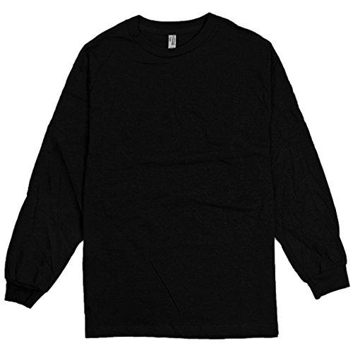 AlStyle Apparel AAA Plain Blank Men's Long Sleeve T-Shirt Style 1304 Crew Tee