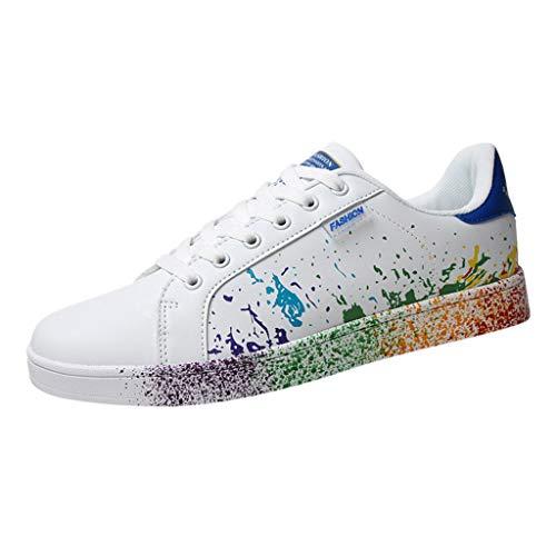 riou Zapatillas de Deportivos de Running para Mujer Zapatos Blancos Alpargatas Mujer cuña Fitness Casuales Aire Libre y Deporte Gimnasia Ligero Sneakers 35-46