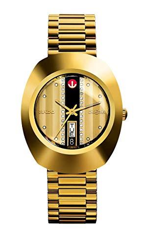 Rado R12413343 - Reloj de Pulsera para Hombre con Esfera Dorada automática en L