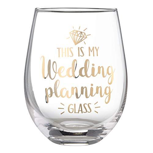 Lillian Rose Weinglas ohne Stiel, für Hochzeitsplanung, 12 cm, goldfarben