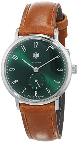DuFa Damen Analog Quarz Uhr mit Leder Armband DF-7001-0M