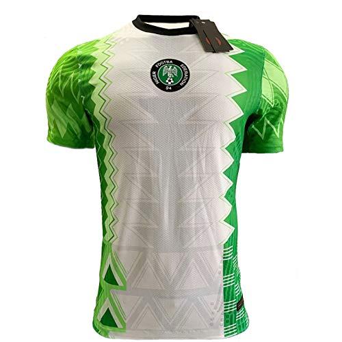 WWJJE Uniforme de Fútbol de Nigeria Traje Adulto Formación niños, Personalizado Equipo de fútbol de Childrendaily Desgaste y Entrenamiento de fútbol L