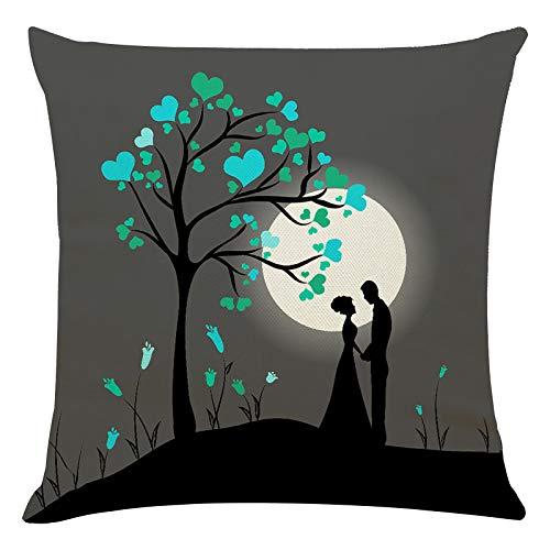 Janly Clearance Sale Funda de almohada, para el día de San Valentín, funda de cojín para sofá, decoración del hogar, para Navidad, hogar y jardín, (D)