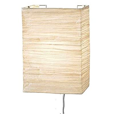 Wallniture Asian Wall Lamp with Toggle Switch Handmade Rice Paper Cream 2 25 Watt Chandelier Bulb Included …