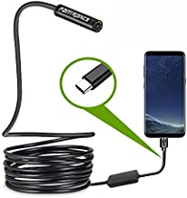 USB Snake Inspection Camera,Fantronics 2.0 MP IP67 Waterproof USB C Borescope,Type-C Scope Camera with 8 Adjustable LED Lights for (16.4ft) Samsung Galaxy S9/S8, Google pixel, Nexus 6p(Not for iPhone)