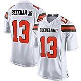 # 13 Beckham JR Maillots de Football américain Fan des Hommes, Cleveland Browns # 13 T-Shirt de Maillots de Rugby, T-Shirt en Jersey pour Les Supporters de la Coupe du Monde Sports Courts-White-S(160