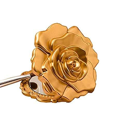 FavorOnline Wedding Party Bridal Shower Favors Ornate Matte Gold Rose Design Compact Mirror (Set of 40)