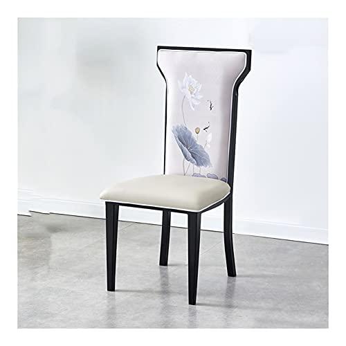 Silla de comedor retro, silla, silla de comedor de hierro, hot bote Theme Restaurant Banquete Home Modern Back Silla CHICAI (Color : B)