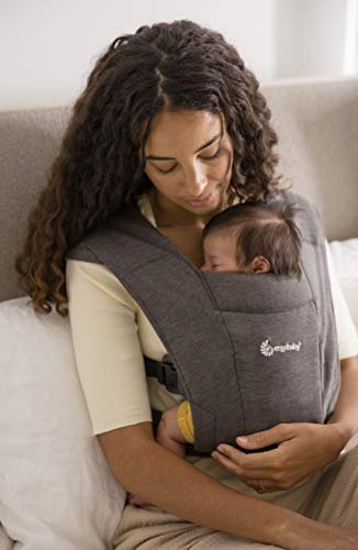 Ergobaby(エルゴベビー) 抱っこひも 前向き抱き可 [日本正規品保証付] 新生児から 柔らかい 軽量 簡単装着 ベビーキャリア エンブレース EMBRACE グレー 1個 (x 1) 0か月~ CREGBCEMAGRY