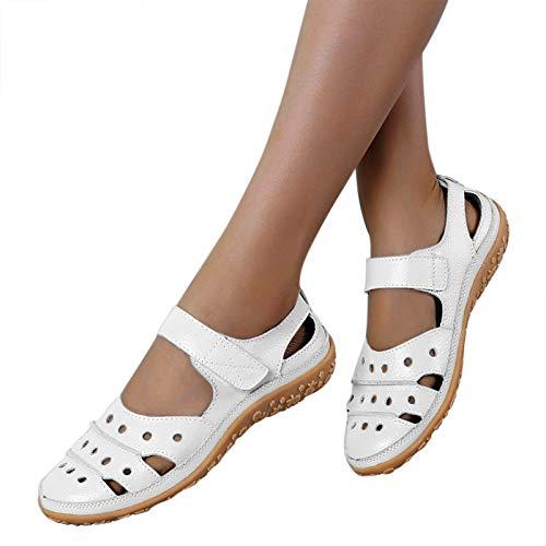 Sandalen dames sleehak slippers vrouwen sandalen schoenen zomer flip flops sandalen casual strand slippers teenslippers zomerschoenen slippers strand binnen / buiten (wit, 37)