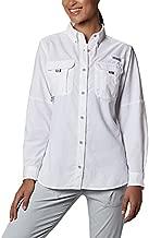 Columbia Women's PFG Bahama Long Sleeve Shirt ,White,Large