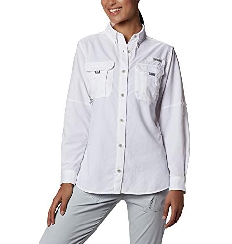 Columbia Women's PFG Bahama Long Sleeve Shirt ,White,X-Large
