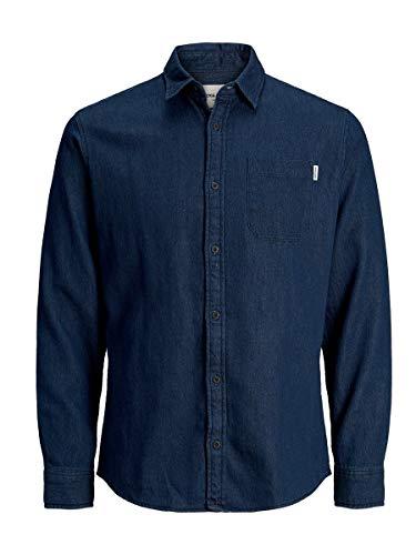 JACK & JONES Herren JCOPERTH Shirt LS ONE Pocket Jeanshemd, Blau (Sky Captain Fit:/ Slim), X-Large (Herstellergröße: XL)