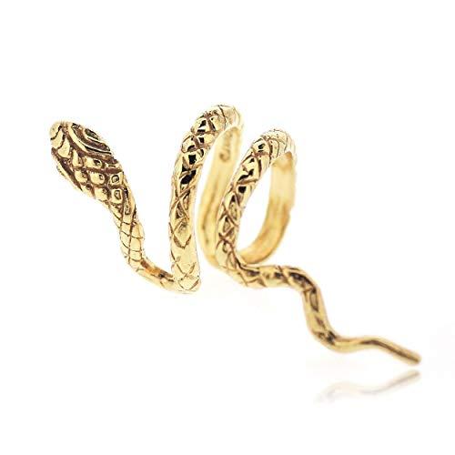 Sovats Damen Schlange Stulpe-Ohrring 925 Gold