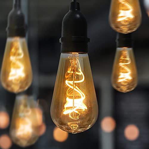 Gresonic Bombilla LED Edison para decoración interior y exterior (luz blanca cálida, G95)