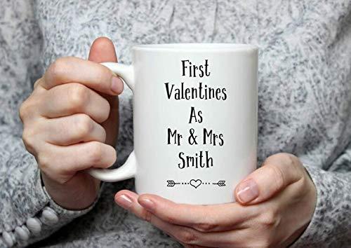 N\A Dason Regalo de San Valentín Personalizado Taza de San Valentín Regalo de San Valentín Taza para Parejas Regalo para Parejas Primer Matrimonio de San Valentín