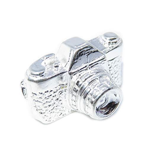 Abalorio para cámara de plata de ley 925, 1 cámara y fotógrafo, MC296719