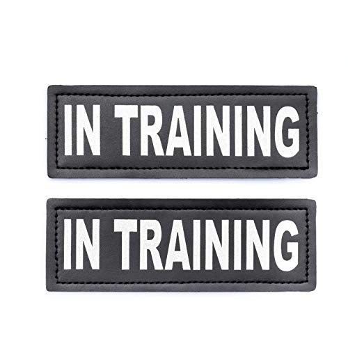 Industrial Puppy in Training Dog Patch with Hook Back and Reflective Lettering - Service Dog in Training Patch Tag for Service Dog Vest in Training Dog Patch for Working Dog