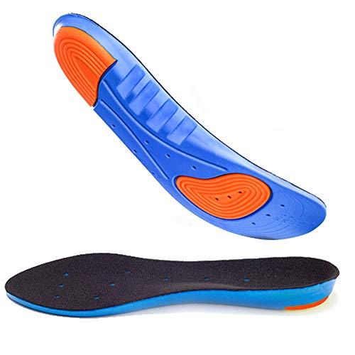 AGIA TEX Germany 2X Komfort Gel-Einlegesohlen für empfindliche Füße | Atmungsaktive Schuheinlagen mit maximaler Dämpfung | für Sport und Arbeitsschuhe | Auch Bei Senk-Spreizfuß, 36-40 Blau/Schwarz