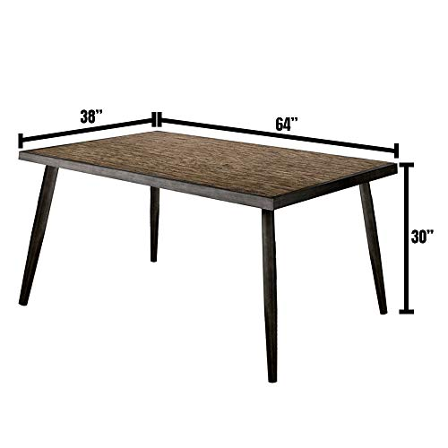 William's Home Furnishing CM3360T Vilhelm I Dining Table, Gray