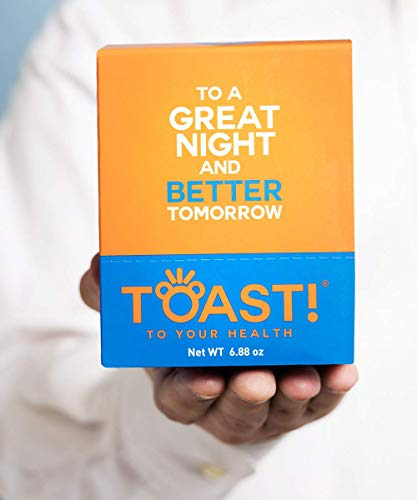 Toast! Before You Drink Gummies Carton (10 Packs) - Best Hangover Cure & Prevention - Morning After Alcohol Recovery & Remedy - Milk Thistle, Prickly Pear, N-Acetyl-Cysteine (NAC)