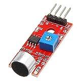 Dream Edge KY-037 4pin Voice Sound Detection Sensormodul Mikrofonsender Smart Robot Car for Arduino...
