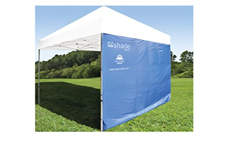 ezShade 10'x10' Straight Leg Canopy Sidewall -Blocks 99% UVA/UVB Keeps You Cooler, Doubles Your Shade & Instantly Attaches to Any Nylon/Poly 10' Straight Leg Canopy - Canopy Not Included