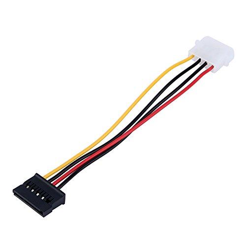 Adaptador de corriente SATA - IDE de 4 pines a disco duro Serial ATA SATA de 15 pines Cable adaptador de corriente para disco duro SATA de 3,5 pulgadas y CD-ROM SATA de 3,5 pulgadas; DVD ROM; DVD-R /