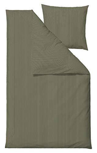 Södahl Common Bettwäsche (Öko-Tex) olivgrün, weiß 155x220 cm / 80x80 cm