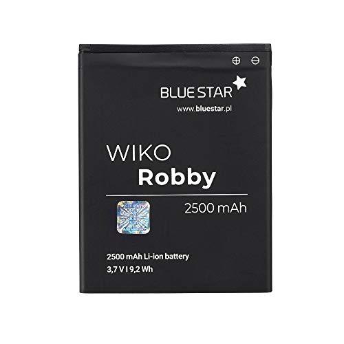 Blue Star Premium - Li-Ion Lithium Akku 2500 mAh Kapazität Schnellladung 2.0 Kompatibel mit dem Wiko Robby