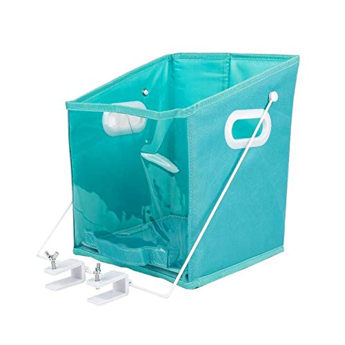 Arinda Closet Clothes Organizer Pull Down Shelf Basket Rotatable Retrieve Foldable with Clear Window Carry for Bedroom