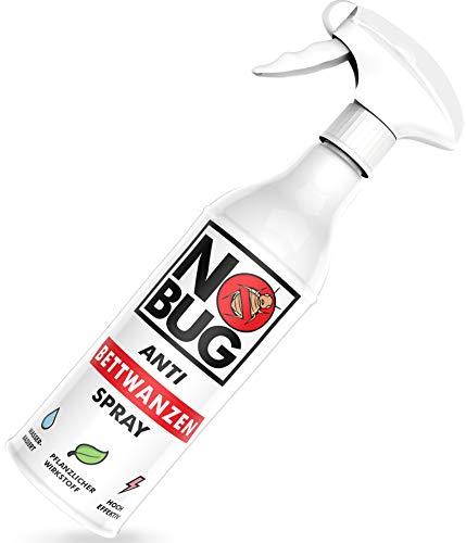 NoBug Bettwanzen Spray 500ml - Zuverlässige Bettwanzen Bekämpfung für den Wohn- und Schlafbereich - Mittel gegen Bettwanzen