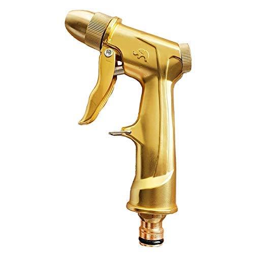 Hochdruckkraft Wasserpistole Autowaschanlage Wasserstrahl Metall Gartenwaschmaschine Schlauchstab Düsensprüher Bewässerungsspray Reinigungswerkzeug (Farbe: Gold)