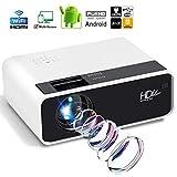 1280 * 720P Beweglicher LED Projektor, 2800 Lumen/Android 6.0/Bluetooth 4.2 Full HD Videoprojektoren USB/SD Karte/Audio/VGA/HDMI (Size : Android)