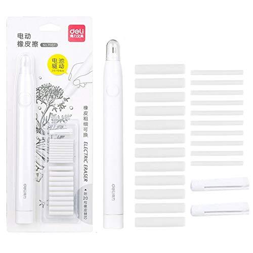 BAIBEI Kit de borrador eléctrico, borrador de lápiz de goma portátil automático...