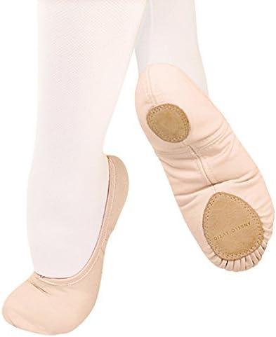 Womens TotalSTRETCH Canvas Split Sole Ballet Shoes by Angelo Luzio 246ABLK04.0M Black 4 M US