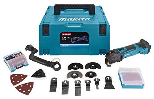 Makita dtm51zjx3MAKPAC Mehrzweckwerkzeug 18V LXT + 45Zubehör + Koffer, 18 V, blau, silber