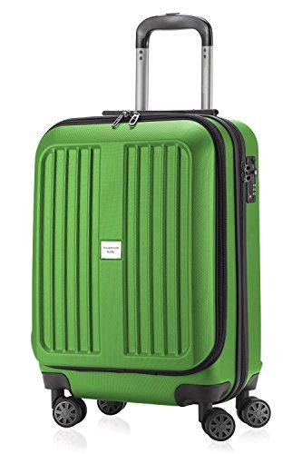 Bagaglio a mano capitale-Valigetta trolley con rotelle doppie opaco Xberg 42litri + piccola tasca cultura grigio verde mela s