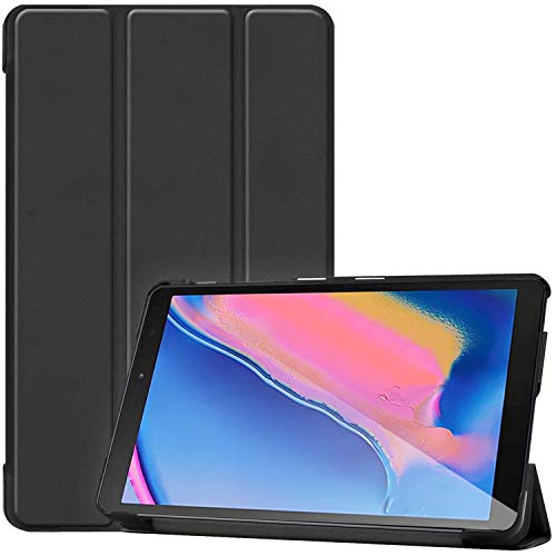 ProCase Samsung Galaxy Tab A 8.0 Case 2019 (SM-P200 SM-P205), Slim Light Smart Cover Stand Hard Shell Folio Case for Galaxy Tab A with S Pen 8.0' 2019 -Black