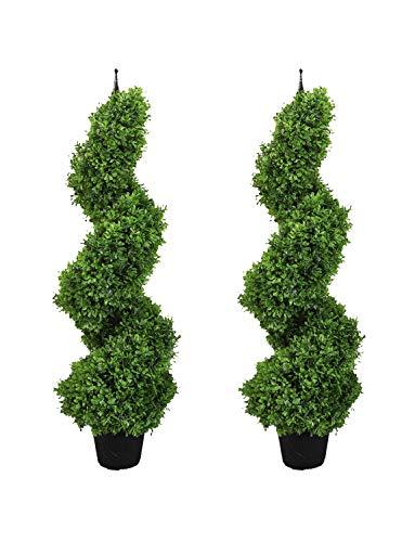 momoplant Topiary Baum, 2 Set 3 Ft / 90cm Formschnittbäume für Außen- und Innendekoration mit Schwarzem Topf