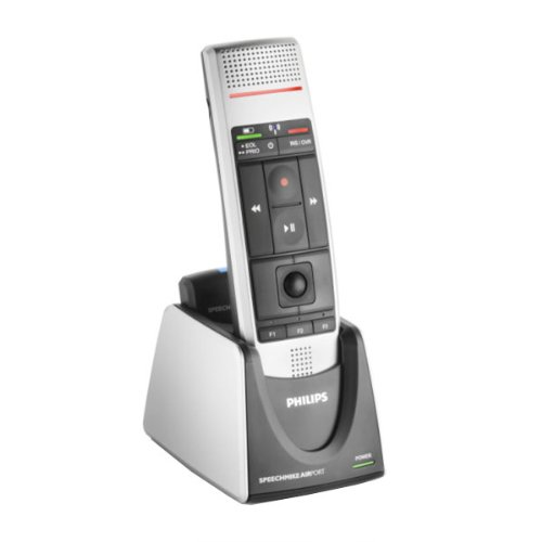 Philips LFH-3000 SpeechMike Air Wireless Dictation Microphone with Push Button Design