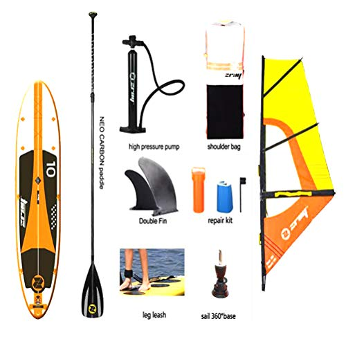 SMEI Segel Board Sup 305 * 76 * 15m Stall Aufblasbare Stand Up Paddle Board Surfen Surfen Kajak Sport Boot Bodyboard Oar Windsail Set E