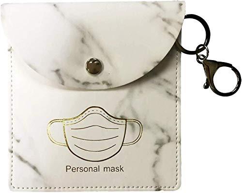 Estuche para Mascarillas en Cuero PU, Almacenamiento de la Máscara Higiénica con Clip, Caja ecológica con Gancho...