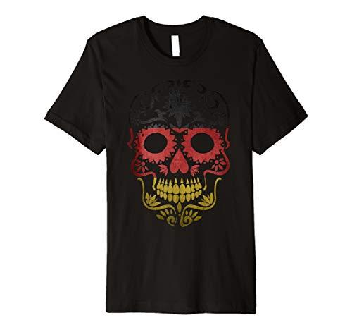 Ger Tag der Toten T-Shirt Sugar Skull Dia de los Muertos