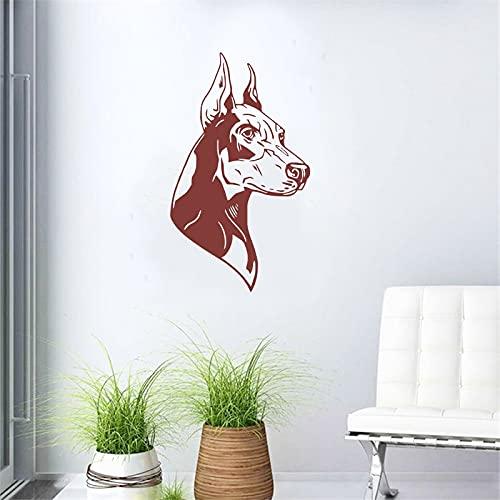 Calcomanías de pared para el hogar mural doberman doberman sala de estar decoración de la casa tema animal tallado decoración pegatina de fondo A8 56x95cm