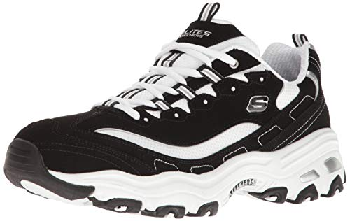 Skechers Men's D'Lites Low-Top Sneakers, Black (Black Trubuck/White Mesh/Silver Trim BKW), 11.5 UK 46 EU