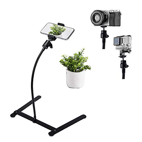 Photo Copy Pico Projector Stand Adjustable Teaching Online Stand Flexible Pipe Mount for Live Streaming Online Video Baking Crafting Demo and Draw Recording